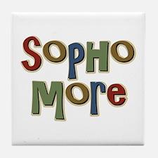 Sophomore Second Year School Tile Coaster