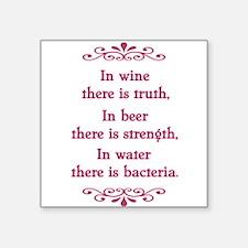 """Cute Wine quotes Square Sticker 3"""" x 3"""""""