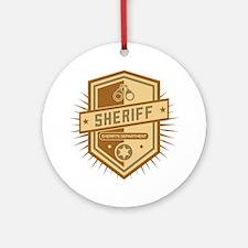Sheriff Crest Ornament (Round)