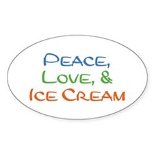 Ice Cream Oval Decal