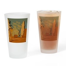 Bear in the woods Drinking Glass
