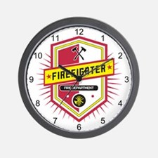 Firefighters Crest Wall Clock