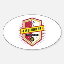 Firefighters Crest Sticker (Oval)