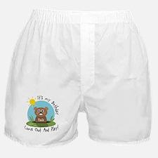 Paula birthday (groundhog) Boxer Shorts