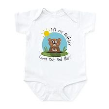 Paula birthday (groundhog) Infant Bodysuit