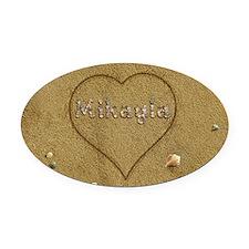 Mikayla Beach Love Oval Car Magnet
