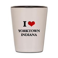 I love Yorktown Indiana Shot Glass