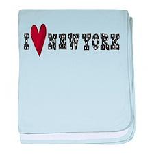 I Love New York baby blanket
