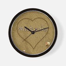Michaela Beach Love Wall Clock