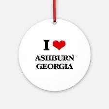 I love Ashburn Georgia Ornament (Round)