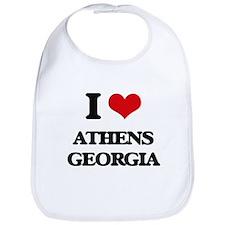 I love Athens Georgia Bib
