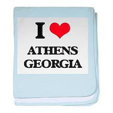 I love Athens Georgia baby blanket
