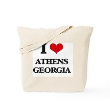 I love Athens Georgia Tote Bag