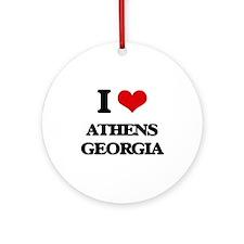 I love Athens Georgia Ornament (Round)