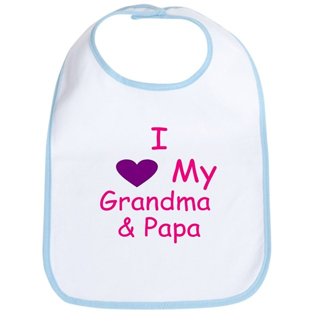 Download I love my grandma & papa Bib by allbabynkids
