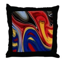 Molten Marbles Decor Throw Pillow