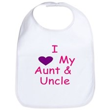 I love my aunt & uncle pink Bib