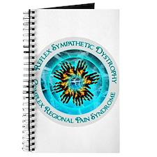 CRPS RSD Awareness Blazing Hand Starburst Journal