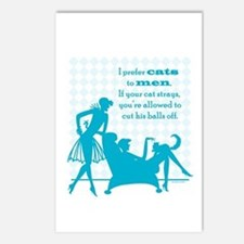 Why Cats are Better than Men Postcards (Package of