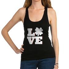 Lucky Clover Love Racerback Tank Top