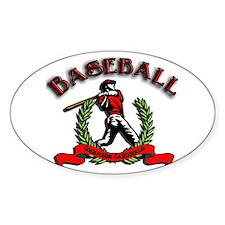 Cardinal Baseball Oval Decal
