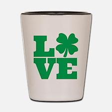 Love Lucky Clover Shot Glass