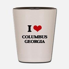 I love Columbus Georgia Shot Glass