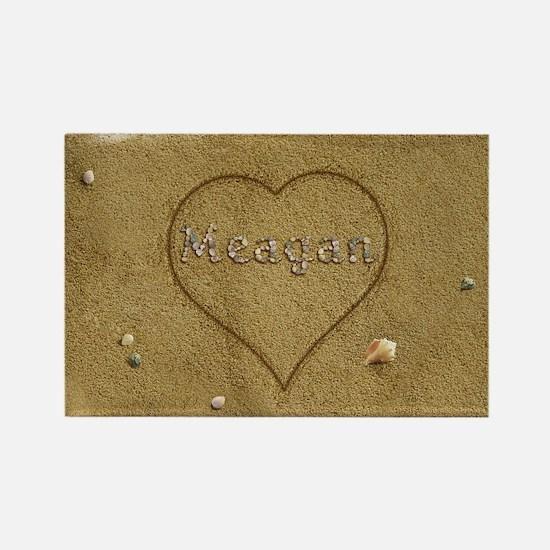 Meagan Beach Love Rectangle Magnet