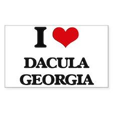 I love Dacula Georgia Decal