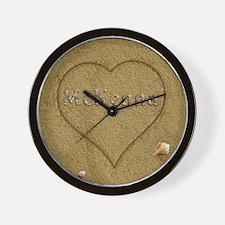 Mckenna Beach Love Wall Clock