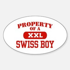Property of a Swiss Boy Oval Decal