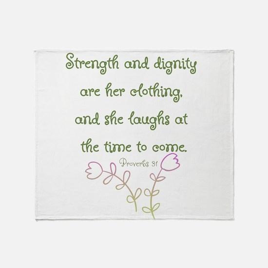 Proverbs 31 woman Throw Blanket
