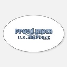 Proud Mom Air Force Rank E2 0 Oval Decal