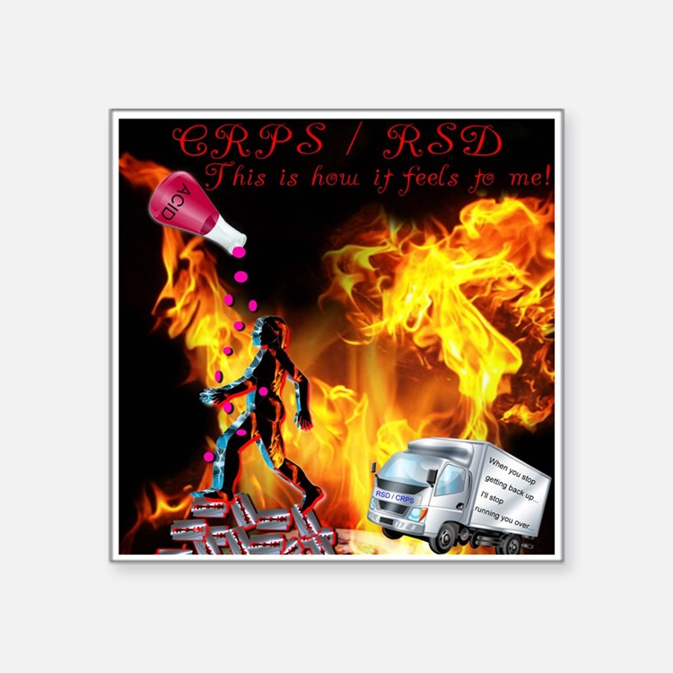 CRPS RSD This is how it Feels to Me Acid R Sticker