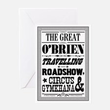 The Great O'Brien Travelling Roadsho Greeting Card