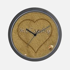 Mccarthy Beach Love Wall Clock