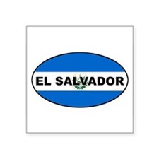 "Cute El salvador Square Sticker 3"" x 3"""