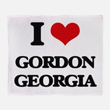 I love Gordon Georgia Throw Blanket
