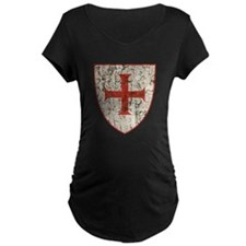 Templar Cross, Shield Maternity T-Shirt