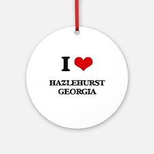 I love Hazlehurst Georgia Ornament (Round)