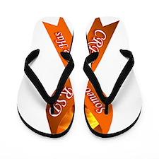 Someone I Love has CRPS -HR- Orange Rib Flip Flops
