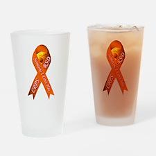 Someone I Love has CRPS -HR- Orange Drinking Glass