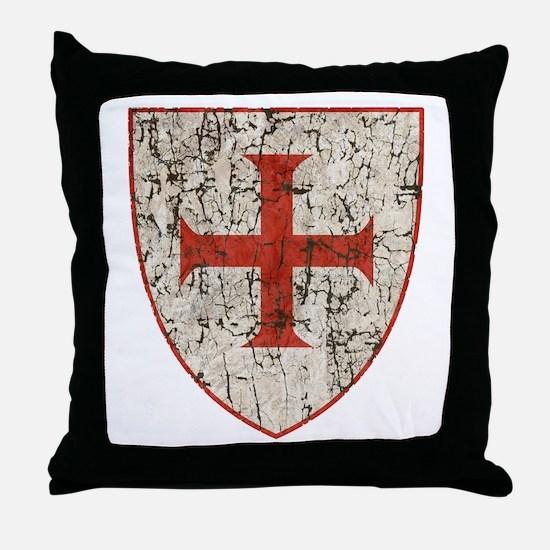 Templar Cross, Shield Throw Pillow