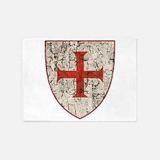 Templar Cross, Shield 5'x7'Area Rug