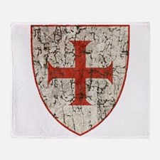 Templar Cross, Shield Throw Blanket