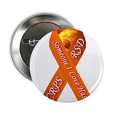 "Someone I Love has CRPS -HR- Orange R 2.25"" Button"