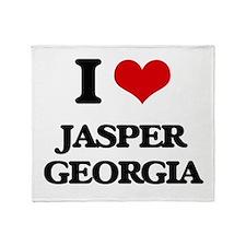 I love Jasper Georgia Throw Blanket