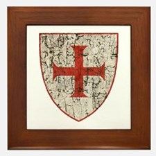 Templar Cross, Shield Framed Tile