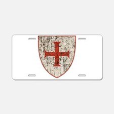 Templar Cross, Shield Aluminum License Plate