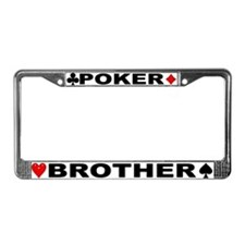 Poker Brother License Plate Frame